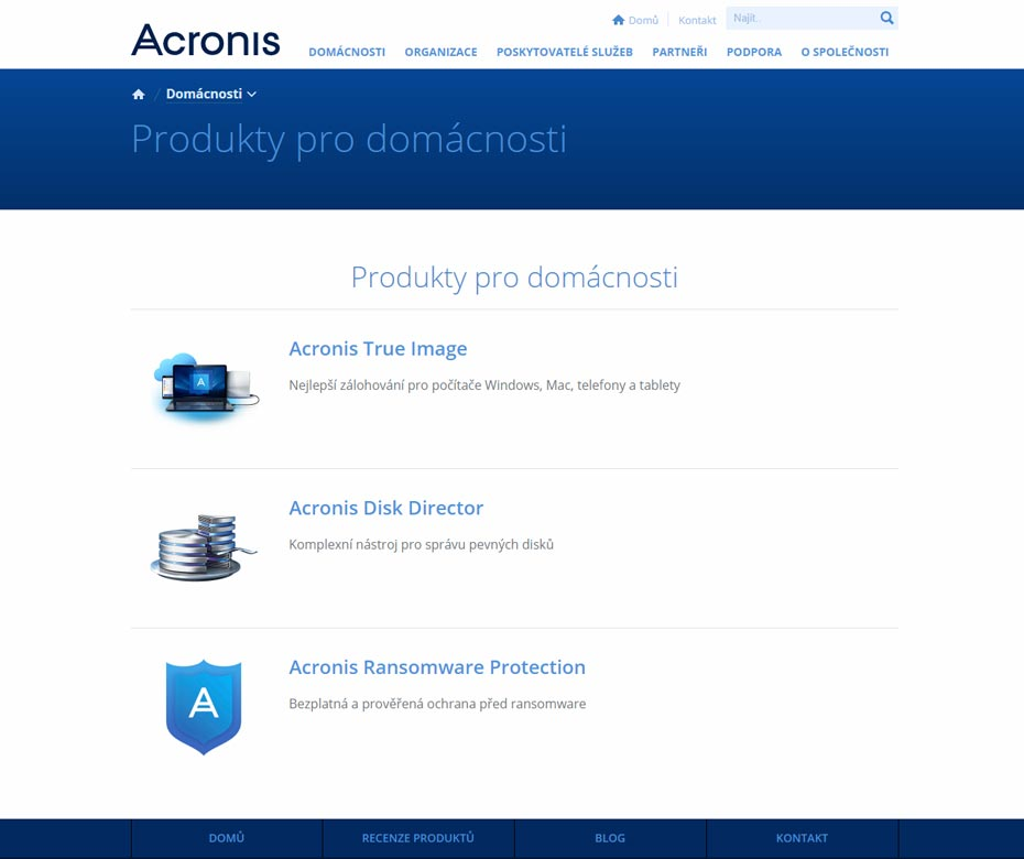 Acronis Web Preview